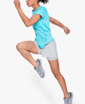 Shorts 2 en 1 UA Qualifier Speedpocket para mujer