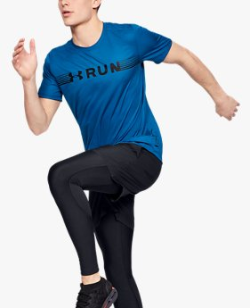Herren UA Run Warped Kurzarm-Oberteil