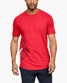 Camiseta de Basquete Manga Curta Masculina Under Armour Baseline Flip Side