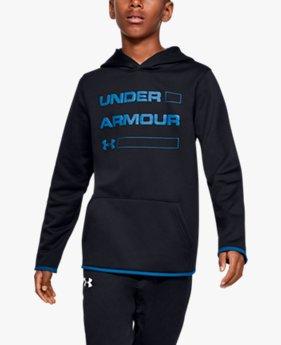 UAアーマーフリース ワードマーク フーディー(トレーニング/BOYS)