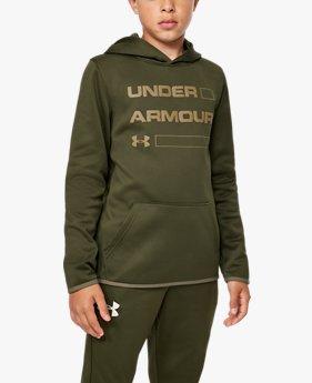 Erkek Çocuk Armour Fleece® Wordmark Kapüşonlu Üst
