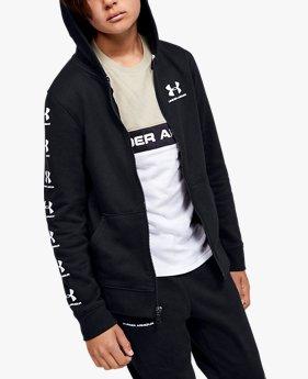Sweat à capuche UA Rival Full Zip pour garçon