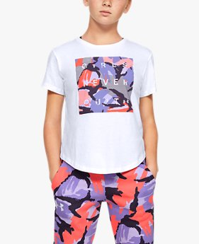 Girls' UA Rival Print Fill Short Sleeve