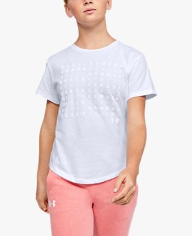 Girls' UA Branded Repeat Short Sleeve