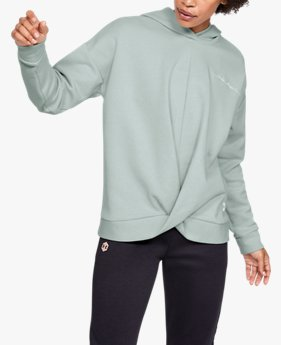 Damen UA Recovery Fleece-Pullover in Wickeloptik