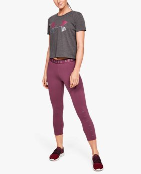Leggings UA Favorite Graphic Crop da donna