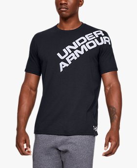 Playera Manga Corta UA Wordmark Shoulder para Hombre