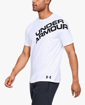 Manga Curta UA Wordmark Shoulder Masculina