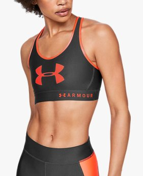 Women's Armour® Mid Keyhole Graphic Sports Bra