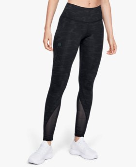 Damen UA RUSH™ Leggings mit Metallic-Print