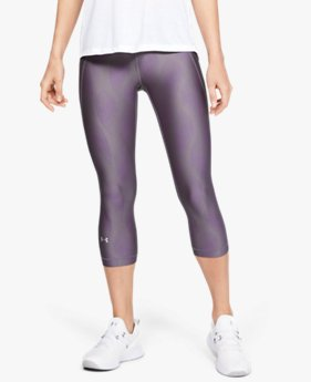 Women's HeatGear® Armour  Metallic Capri