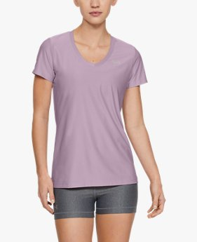 Women's UA Tech™ Short-Sleeve V-Neck Novelty