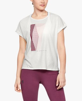 Playera Manga Corta UA Graphic Entwined Fashion para Mujer