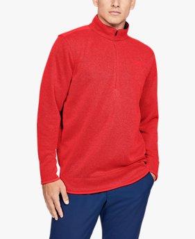 Herenshirt UA SweaterFleece met korte rits