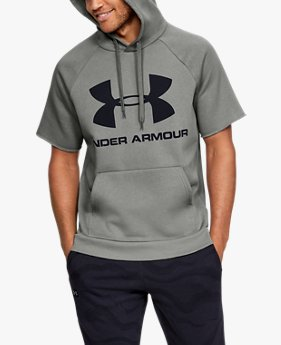 Men's UA Rival Fleece Logo Short-Sleeve Hoodie