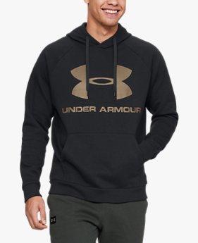 Sudadera con capucha de tejido Fleece y logotipo UA Rival para hombre