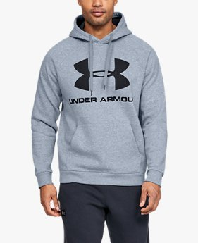 Herenhoodie UA Rival Fleece Logo