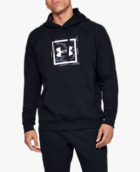 Sweat à capuche UA Rival Fleece Printed pour homme