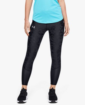 Damen UA Qualifier Smudged Verkürzte Leggings mit Speedpocket