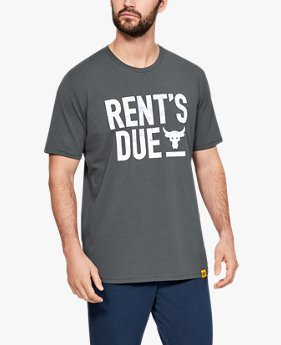 Herren UA x Project Rock Rents Due T-Shirt, kurzärmlig