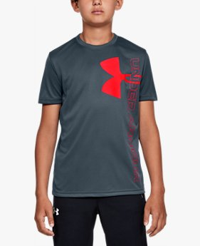 Boys' UA Split Logo Hybrid Short Sleeve