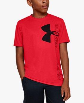 UA スプリット ロゴ ハイブリッド ショートスリーブ(トレーニング/Tシャツ/BOYS)