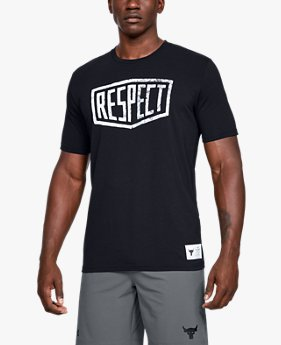 Camiseta de Manga Curta Projeto Rock Graphic Respect Masculina