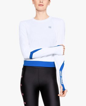 Women's UA Always On Pique Zip Long Sleeve