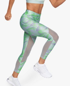 Women's HeatGear® Armour Mesh Print Ankle Crop