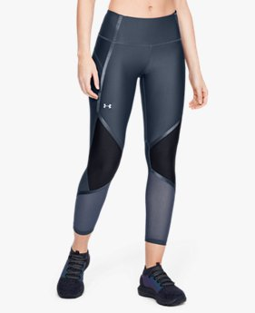 Damen HeatGear® Armour Knöchellange Leggings mit Glanz-Details