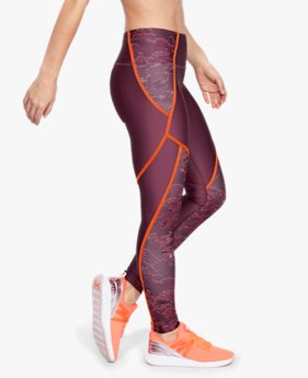 Women's HeatGear® Armour Edgelit Print Leggings