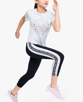 Girls' UA Sportstyle Taped Crop