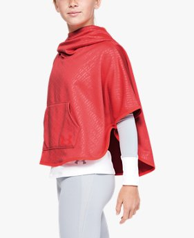Poncho Armour Fleece® Emboss da ragazza