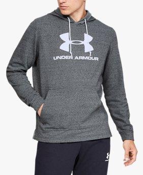 Erkek UA Sportstyle Terry Logolu Kapüşonlu Üst
