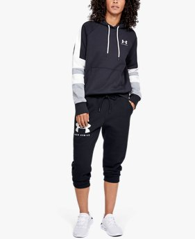 Damescapri UA Rival Fleece Sportstyle Graphic