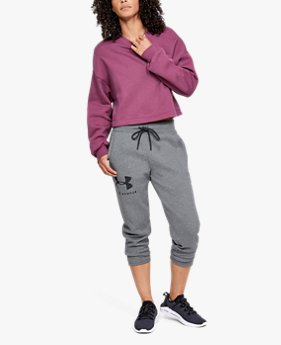 Women's UA Rival Fleece Sportstyle Graphic Crop