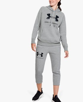 Calça Crop de Treino Feminina Under Armour Rival Fleece Sportstyle Graphic