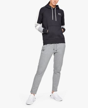 Women's UA Rival Fleece Open Hem Trousers