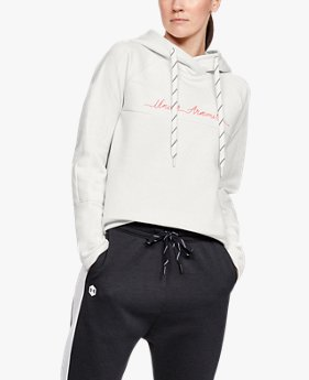 Women's UA Recovery Fleece Graphic Script Hoodie