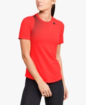 Women's UA RUSH™ Short-Sleeve Hex Ombre Graphic