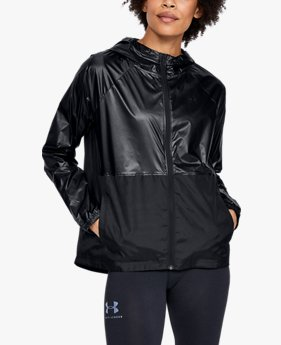 Women's UA Metallic Woven Full Zip