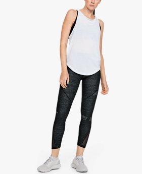 Women's HeatGear Armour® Mesh Printed Ankle Crop