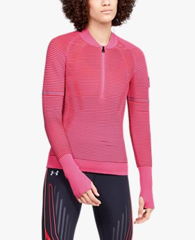 Sweat UA IntelliKnit 2.0 ½ Zip pour femme