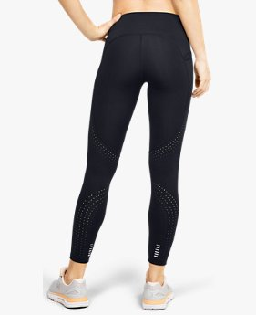 Damen UA Qualifier Speedpocket Crop-Hose mit Perforationen