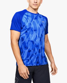 Men's UA Qualifier Iso-Chill Printed Run Short Sleeve