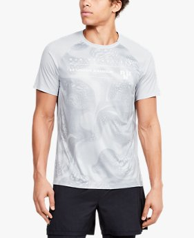 T-shirt à manches courtes UA Qualifier Iso-Chill Run Weightless pour homme