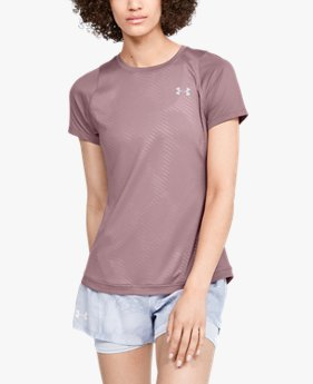 Women's UA Qualifier Iso-Chill Embossed Short Sleeve