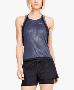 Women's UA Qualifier Iso-Chill Embossed Tank