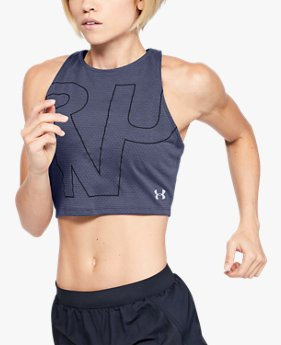 Damen UA Streaker 2.0 RUN Crop-Top