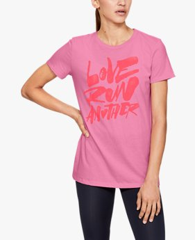 Damesshirt UA Love Run Another met korte mouwen